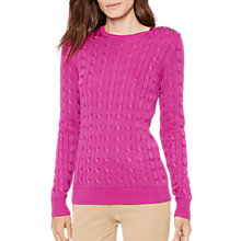 Buy Lauren Ralph Lauren Veronika Cable Knit Jumper Online at johnlewis.com