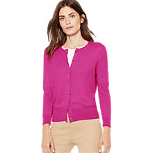 Buy Lauren Ralph Lauren Vidru Cardigan, Wild Berry Online at johnlewis.com
