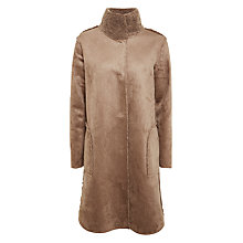Buy Velvet Mirabella Reverse Faux Shearling Coat, Mink Online at johnlewis.com