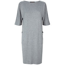 Buy Jaeger Jersey Seam Detail Dress, Grey Online at johnlewis.com