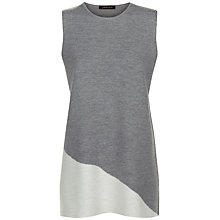 Buy Jaeger Milano Wool Tunic Top, Grey Melange/Ivory Online at johnlewis.com