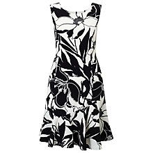 Buy Precis Petite Print Flippy Hem Dress, Black Online at johnlewis.com