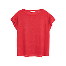 Buy Mango Linen T-Shirt, Red Online at johnlewis.com