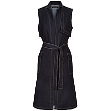 Buy Jaeger Denim Gilet, Indigo Online at johnlewis.com
