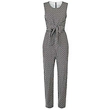 Buy Damsel in a dress Chevron Jumpsuit, Black/Cream Online at johnlewis.com