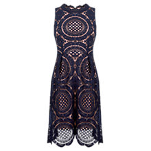 Buy Oasis Lace Dress, Navy Online at johnlewis.com