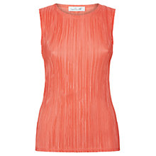 Buy Damsel in a dress Plisse Top, Orange Online at johnlewis.com