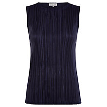 Buy Damsel in a dress Plisse Top, Navy Online at johnlewis.com