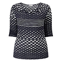 Buy Studio 8 Ainsley Top, Navy/White Online at johnlewis.com