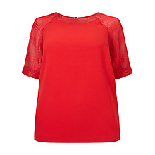 Buy Studio 8 Lulu Blouse, Red Online at johnlewis.com