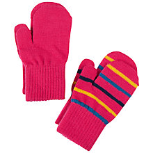 Buy Polarn O. Pyret Baby Stripe Magic Mittens, Pack of 2 Online at johnlewis.com