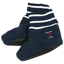 Buy Polarn O. Pyret Baby Fleece Booties, Navy Online at johnlewis.com