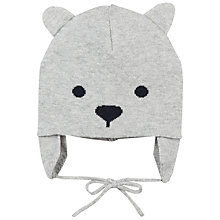 Buy Polarn O. Pyret Baby Bear Hat, Grey Online at johnlewis.com
