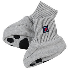Buy Polarn O. Pyret Baby Bear Booties, Grey Online at johnlewis.com