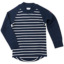 Buy Polarn O. Pyret Baby Wool Stripe Top, Blue Online at johnlewis.com