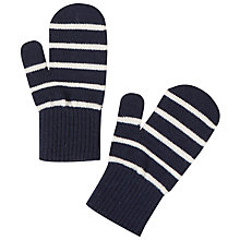 Buy Polarn O. Pyret Baby Striped Magic Mittens, Blue Online at johnlewis.com