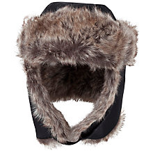 Buy Polarn O. Pyret Children's Furry Flap Hat, Black Online at johnlewis.com