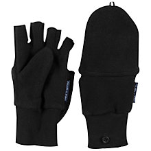 Buy Polarn O. Pyret Childrens' Cap Mittens, Black Online at johnlewis.com