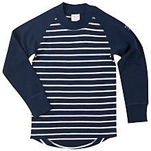 Buy Polarn O. Pyret Children's Wool Stripe Top, Blue/White Online at johnlewis.com