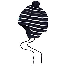 Buy Polarn O. Pyret Baby Striped Merino Bobble Hat Online at johnlewis.com