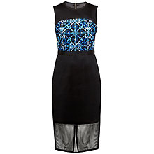 Buy Ted Baker Khya Mesh Embroidered Midi Dress, Black Online at johnlewis.com