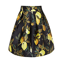 Buy Ted Baker Laylee Citrus Bloom Full Skirt, Black Online at johnlewis.com