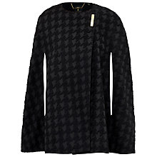 Buy Ted Baker Houndstooth Cape, Black Online at johnlewis.com