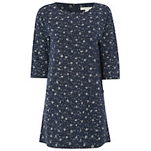 Buy White Stuff Wilding Spot Tunic Top, Mount Blue Online at johnlewis.com