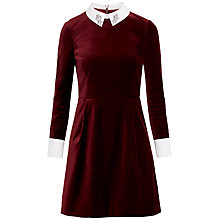 Buy Ted Baker Cheryll Embellished Collar Dress, Brick Red Online at johnlewis.com