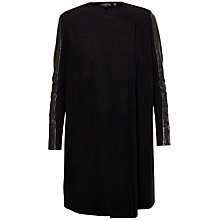 Buy Ted Baker Elaina Leather Panel Wrap Cardigan, Black Online at johnlewis.com
