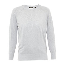 Buy Ted Baker Dyanii Embellished Crew Neck Jumper, Mid Grey Online at johnlewis.com