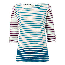Buy White Stuff Royal Stripe T-Shirt, Empire Green Online at johnlewis.com