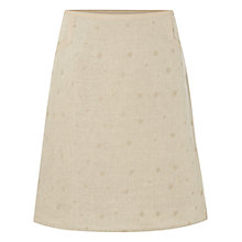 Buy White Stuff Hiccup Embroidered Skirt, Neutral Online at johnlewis.com