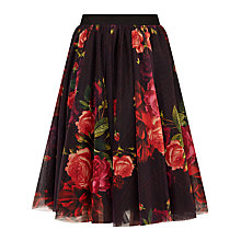 Buy Ted Baker Ondra Juxtapose Rose Tutu Midi Skirt, Oxblood Online at johnlewis.com