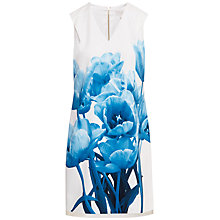Buy Ted Baker Jamina Blue Beauty Tunic Dress, White Online at johnlewis.com