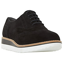 Buy Dune Wide Fit Farli Flatform Brogues, Black Online at johnlewis.com