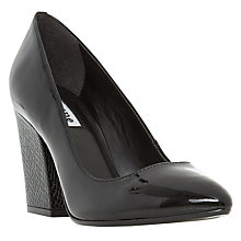 Buy Dune Alberta Block Heel Court Shoes Online at johnlewis.com