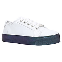 Buy Carvela Largesse Flatform Trainers, White Online at johnlewis.com