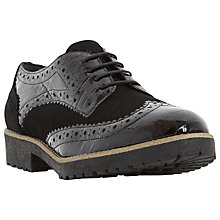 Buy Dune Faune Lace Up Brogues, Black Online at johnlewis.com