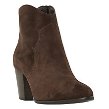Buy Dune Priscil Western Ankle Boots, Brown Online at johnlewis.com