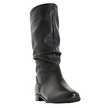Buy Dune Rosalind Ruched Calf Boots Online at johnlewis.com