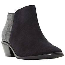 Buy Dune Wide Fit Parrs Block Heeled Ankle Boots, Black Online at johnlewis.com