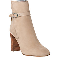 Buy L.K. Bennett Kiely Block Heeled Ankle Boots, Sand Nubuck Online at johnlewis.com