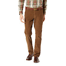 Buy Dockers Alpha Slim Fit Corduroy Trousers, Tobacco Online at johnlewis.com