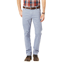 Buy Dockers Alpha Slim Fit Twill Trousers, Ventana Blue Online at johnlewis.com