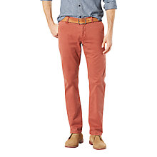 Buy Dockers Alpha Tapered Fit Chinos, Henna Online at johnlewis.com