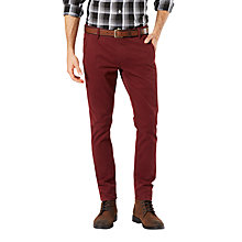 Buy Dockers Alpha Skinny Fit Trousers, Dark Russet Online at johnlewis.com