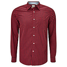 Buy Dockers Laundered Gingham Shirt, Beckham Rio Red Online at johnlewis.com