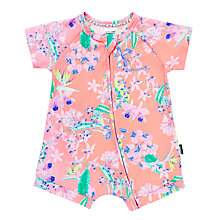 Buy Bonds Baby Zip Wondersuit Orchid Garden Short Romper, Pink/Multi Online at johnlewis.com