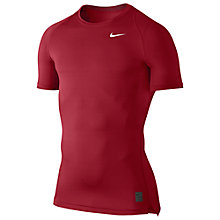 Buy Nike Pro Cool Compression Top, Red Online at johnlewis.com